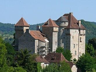 Curemonte - Image: Curemonte château de Plas, de Saint Hilaire 1