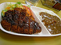 Curry rice with Tonkatsu (55121775).jpg