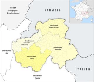 Arrondissements of the Haute-Savoie department