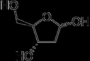 Deoxyribose - Image: D Deoxyribose