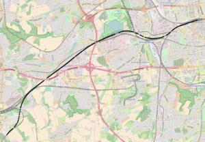 Spoorlijn aansluiting Stockumer Strae Dortmund Hauptbahnhof
