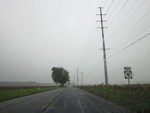 Delaware Route 9 - DE 9 southbound between Leipsic and Little Creek