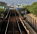 DOCKLANDS LIGHT RAILWAY HEADING FROM WOOLWICH ARSENAL TO BANK LONDON SEP 2012 (9380152236).jpg