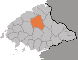 Location of Taegwan County