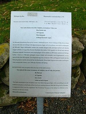 Sjörup Runestone - Image: DR279 3 Sjörup