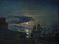 Dahl, Der Kopenhagener Hafen im Mondschein, 1831.jpg