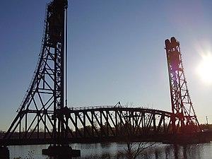 Dain City, Ontario - Dain City Railroad Bridge over the old Welland Canal in Dain City.
