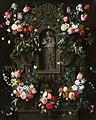 Daniël Seghers ^ Thomas Willeboirts Bosschaert - Garland of Flowers surrounding a Sculpture of the Virgin Mary - 256 - Mauritshuis.jpg