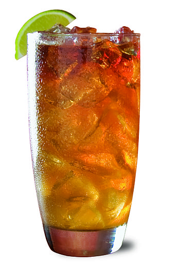 English: Dark 'n Stormy made with Gosling's Bl...