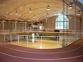 Alumni Gymnasium (Dartmouth College) - Basketball courts and the indoor track