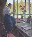 Daughter Tanya on a Windowsill by Aleksey Korin (1912).jpg