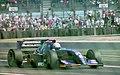 David Brabham - Simtek S941 leaves the pits at the 1994 British Grand Prix (32388881792).jpg