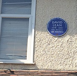 Photo of David Lean blue plaque