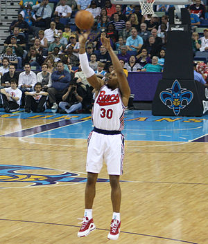 David West (basketball) - West in a game with the Hornets in 2010