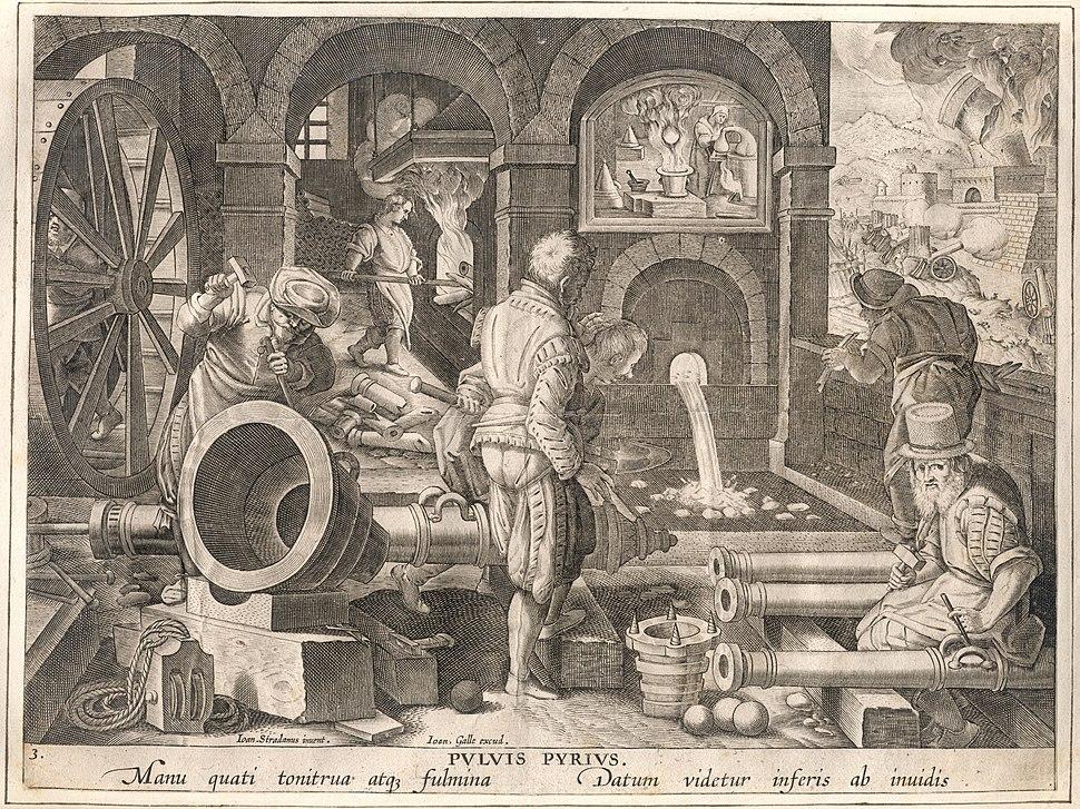 De uitvinding van het buskruit, anoniem, Museum Plantin-Moretus, PK OPB 0186 004