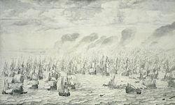 Willem van de Velde the Elder: The Battle of Terheide