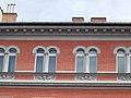 Decorative brick facade (1887). Winged horses. - 11 Teréz Boulevard, Budapest.JPG
