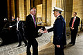 Defense.gov News Photo 110617-D-TX536-001 - French Air Force Maj. Gen. Gratien Maire greets Deputy Secretary of Defense William J. Lynn III as he arrives at the Ecole Militaire in Paris on.jpg