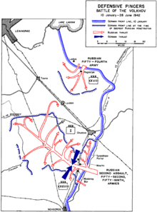 Map depicting Allied breakthroughs of the German line. The German armour is held back and committed to seal the breakthrough