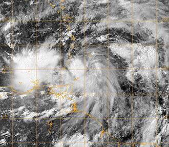 Meteorological history of Hurricane Dennis - Tropical Depression Four upon its classification as a tropical cyclone on July 4, just north of Tobago.