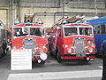 Dennis fire engines NHS 196 & HSA 590, GVVT open day 14 Oct 2012.jpg