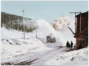 Hagerman Pass - A train in Hagerman Pass, 1899