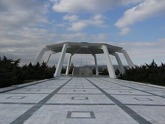 Turkish State Cemetery - Otağ (marquee) in the State cemetery.