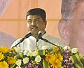 Dharmendra Pradhan addressing the gathering at the foundation stone laying ceremony of the Indian Institute of Petroleum and Energy, at Vangali village, in Sabbavaram Mandal of Visakhapatnam district.jpg