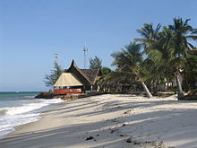 Diani Beach towards the south next to the Indian Ocean Beach Club hotel near Mombasa, Coast Province, Kenya.jpg