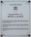 Dijon Hotel Laloge plaque information.jpg