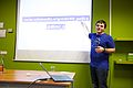 Dimitar Dimitrov talked about Hacking Brussels, giving free knowledge a voice, at the Wikimedia Nederland Conferentie 2013 (10642809723).jpg