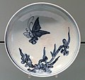 Dish with Butterfly and Flower Design, c. 1620-1640, Arita, hard-paste porcelain with underglaze cobalt - Gardiner Museum, Toronto - DSC00373.JPG