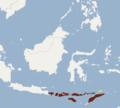 Distribution of Cynopterus nusatenggara.png