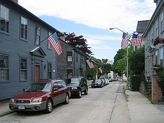 John Mecray - Division Street, Newport, RI 83 - restored by John Mecray - is the blue/gray house on the left.