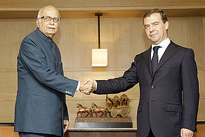 L. K. Advani - L.K. Advani with Dmitry Medvedev of Russia.