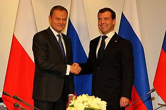 Donald Tusk - Donald Tusk with Russian President Dmitry Medvedev in 2010