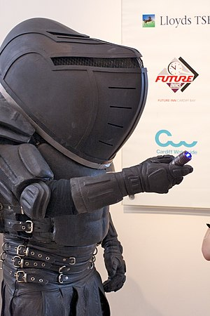 Judoon - A Judoon in its armour and helmet, as shown at a Doctor Who convention.