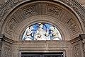 Domenico di jacopo da firenzuola, portale laterale della madonna della quercia, 1504-06, con lunetta di andrea della robbia (1508) 02 pietro martire.jpg