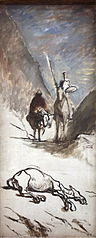 Don Quichotte et la mule morte