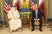 Donald Trump meets with the Emir of Qatar (Sheikh Tamim bin Hamad Al Thani), May 2017