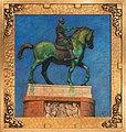Donatellos Bronze-Rytterstatue af Kondottieren Erasmus Gattamelata i Padova (Zahrtmann).jpg