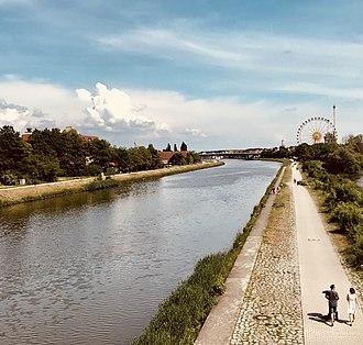 Regensburg - Rhein-Main-Donau Canal at the Stadt-am-Hof locks, Regensburg