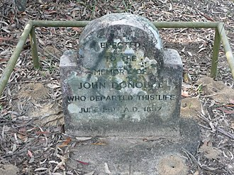 Linden, New South Wales - Image: Donohoes Grave 2