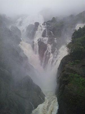 Dudhsagar Falls - Dudhsagar Waterfalls in August