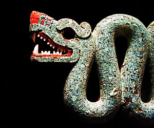 Double-headed serpent - Detail of one of the serpent's heads.