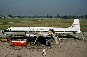 Air Afrique - Air Afrique Douglas DC-6B at Manchester Airport in 1963