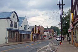 Downtown looking north along NY 42
