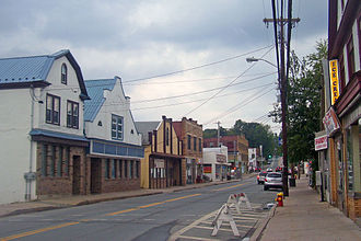 South Fallsburg, New York - Downtown looking north along NY 42