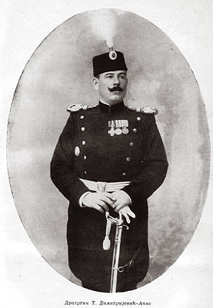 July Crisis - Dragutin Dimitrijević, leader of the Black Hand. He was also a prominent member of the Serbian General Staff.