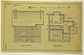 Drawing, Rendering of Facade and Plan for the Basement of a Two Family Mass-operational House (Type No.7), 1921 (CH 18385025-2).jpg